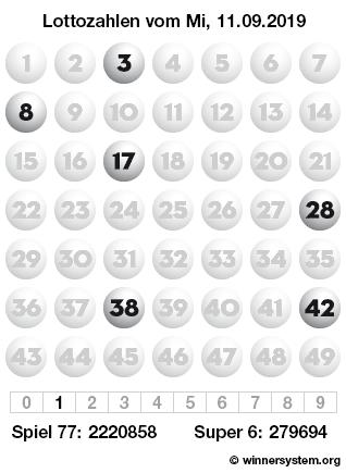 Lottozahlen 11.09 19