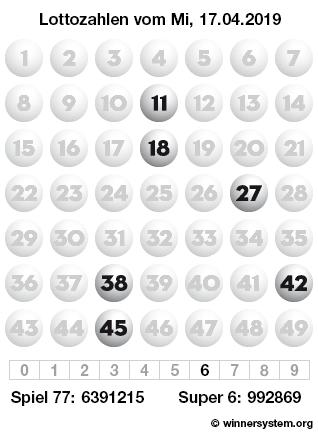 Lottozahlen 17.04 20