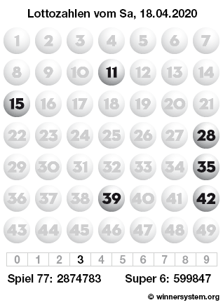 Lottozahlen 18.04 20