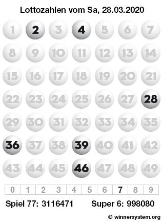 Lottozahlen Vom 28.03