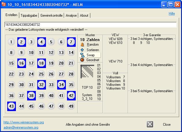 Nun befindet sich ein verändertes Lottosystem im Programm!